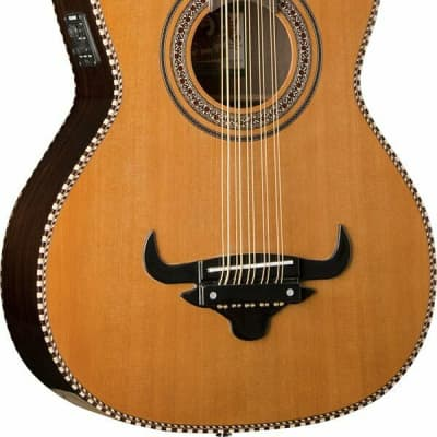 Oscar Schmidt OH32SE Solid Cedar Top 10-String Acoustic-Electric Bajo Quinto w/Deluxe Padded Bag