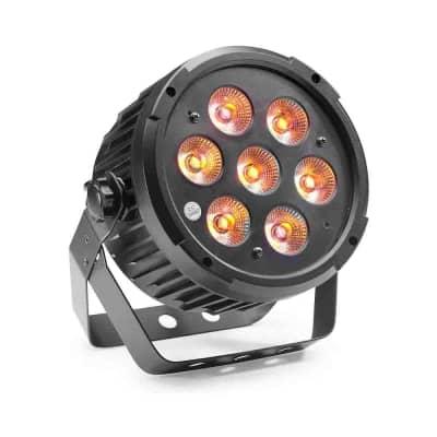 Stagg King Par w/ 7 x 8-watt RGBWAUV (6 in 1) LED