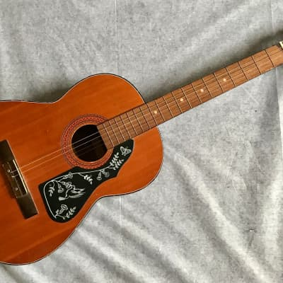 """CHECKMATE G135 Vintage Acoustic Classical Guitar 39"""" Korea Made Fair Condition for sale"""
