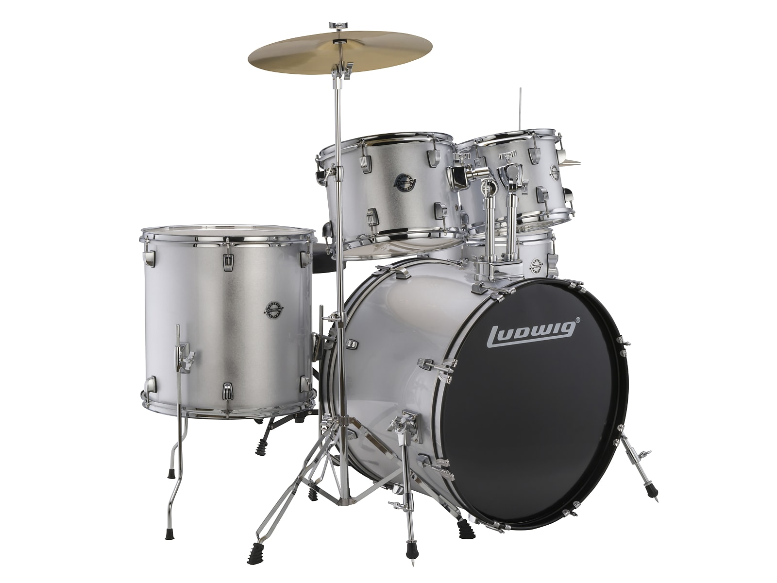 Ludwig LC170 5pc. Accent Fuse Complete Drum Kit - Silver 2019