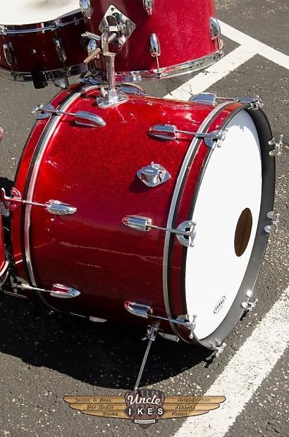 "drumhead 7.5/"" Chrome drum kit Rogers Drums sticker bass drum USA"