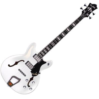 Hagstrom Viking Bass - White Gloss for sale