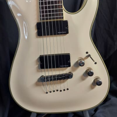 Schecter Blackjack ATX C-7 2011 Antique White with black binding for sale