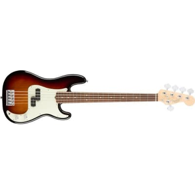 Fender American Professional Precision Bass V Five String, 3 Colour Sunburst, Rosewood for sale