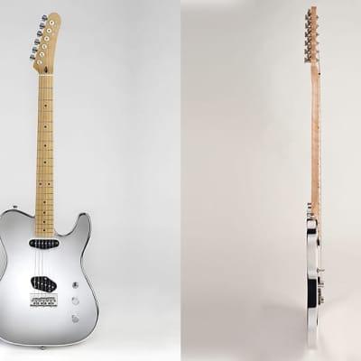 Noah SLIM Guitar 2020 Magic Mirror Chromed Aluminum Finish Made in Italy, New (Authorized Dealer) for sale
