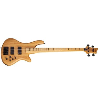 Schecter Fretless Stiletto Session-4 Bass, Aged Natural Satin for sale