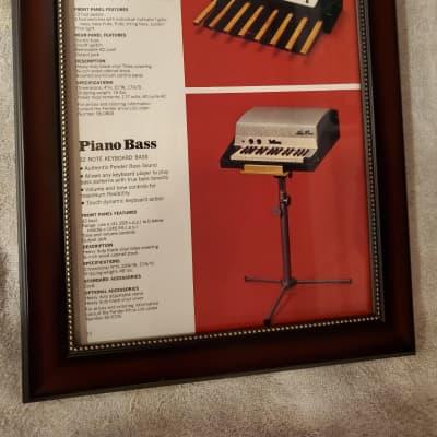 1970 Fender/Rhodes Promotional Ad Framed Pedal Bass & Piano Bass Models Original