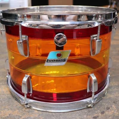 Ludwig 8x12 Vistalite Rack Tom Drum Tequila Sunrise Vintage 1970's