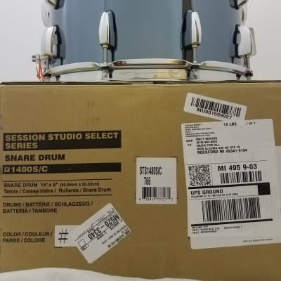 Pearl Session Studio Select Black Mirror Chrome 14x8 Snare Drum - NEW Authorized Dealer