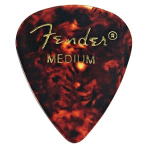 Fender 351 Shape Premium Picks Medium Tortoise Shell