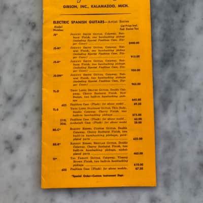 1965 Gibson Price List Ultra Rare Case Candy Collector SG ES335 ES330 Firebird