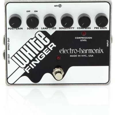 Electro Harmonix WHITE FINGER Analog Optical Compressor Pedal for sale