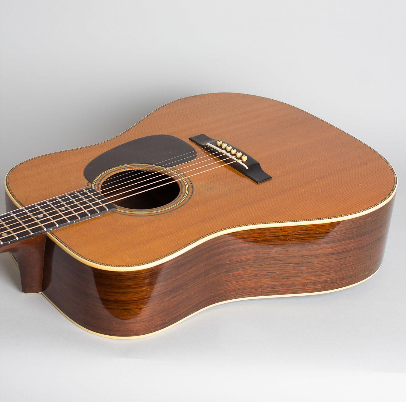 C. F. Martin  D-28 Herringbone Flat Top Acoustic Guitar (1946), ser. #96265, brown hard shell case.