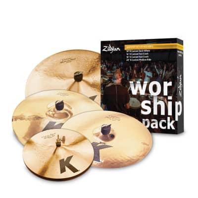 Zildjian K Custom Worship Cymbal Pack -14/16/18/20  KC0801W - 642388316801
