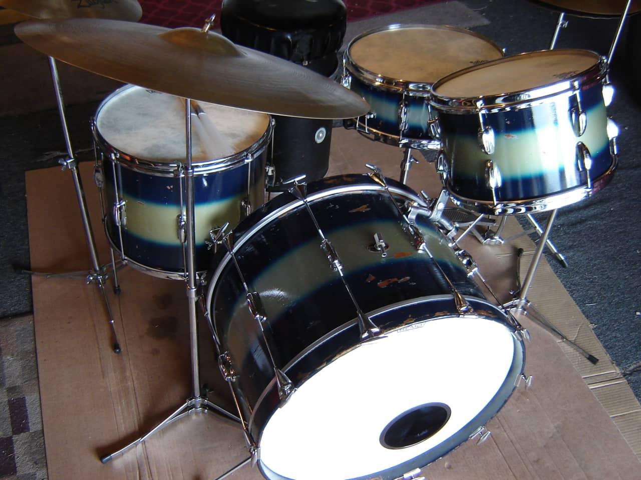 slingerland rare vintage 60s blue silver duco drum set reverb. Black Bedroom Furniture Sets. Home Design Ideas