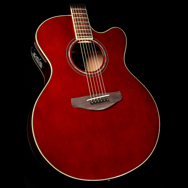 yamaha cpx600 acoustic electric guitar root beer reverb
