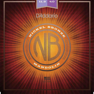 D'Addario NBM1038 Nickel Bronze Mandolin Strings - Light (10-38)