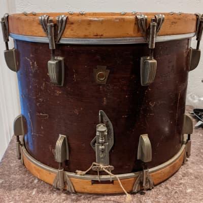 WFL Junior Champion Deluxe Snare Drum 1950's Mahogany