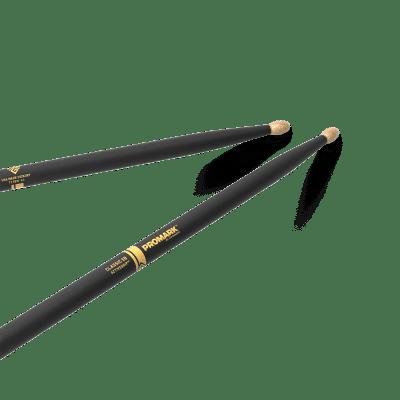 Pro-Mark TX5BW-AG Classic 5B ActiveGrip Wood Tip (Pair) Drum Sticks