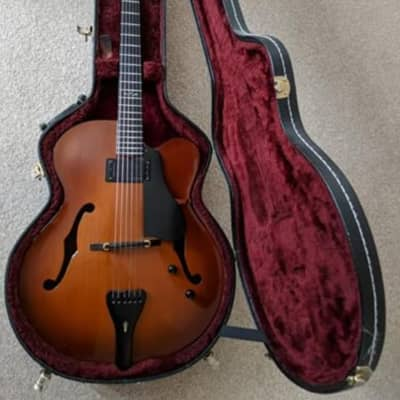 Foster Basin Street 17in Thinline Jazz Archtop Cremona Burst Guitar for sale