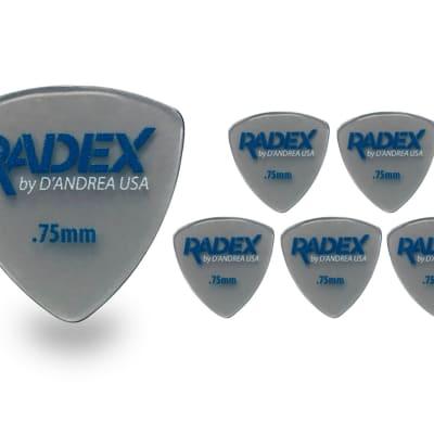D'Andrea Radex RDX 346 shape  .75MM Guitar Picks 6 pack 2018 Smoke