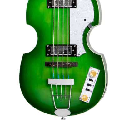 New Hofner Ignition Pro Beatle Bass, HI-BB-PE-GR, Green, w/Upgraded Features & Free Shipping! for sale