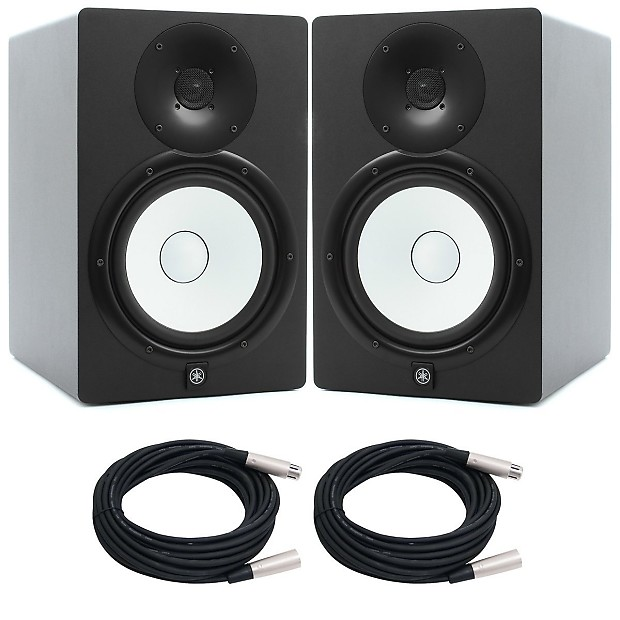 yamaha hs8 black studio monitor pair with free xlr cables reverb. Black Bedroom Furniture Sets. Home Design Ideas