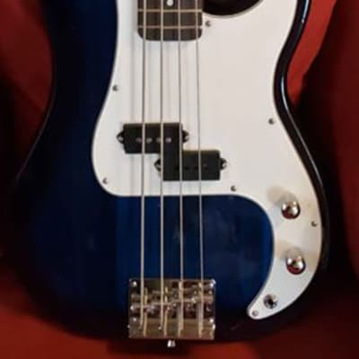 Crescent Steel Blue 4-String P-Bass for sale