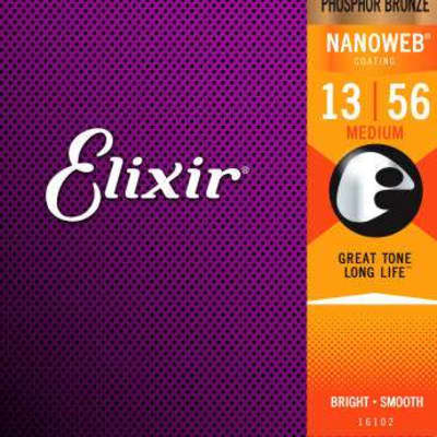 Elixir #16102 - Acoustic Phosphur Bronze Nanoweb 13-56 Medcium