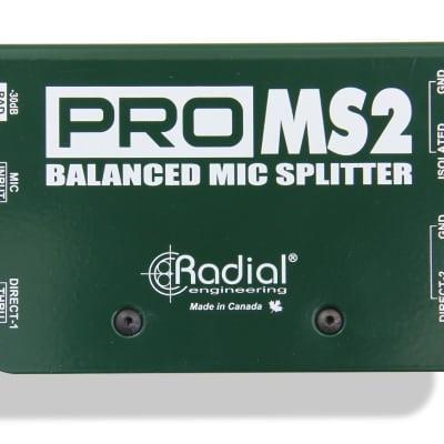 Radial Engineering Pro MS2 / Passive Microphone Splitter Original Package & Full Warranty