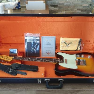 2014 Fender Custom Shop '63 Telecaster Relic Faded 3-Tone Sunburst • MINT • for sale