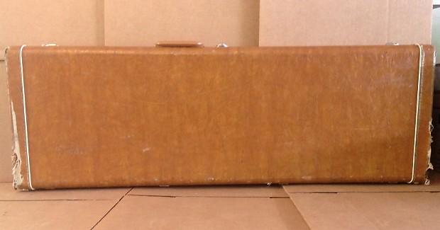 kramer short scale bass guitar hard case 70s tan brown reverb. Black Bedroom Furniture Sets. Home Design Ideas