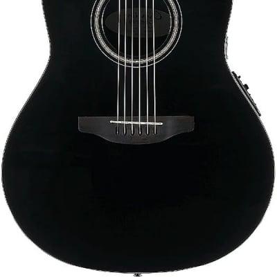 Ovation CS24L-5G Celebrity Standard 6-String LH Acoustic Electric Guitar-Black Gloss cs-24-l-5-g