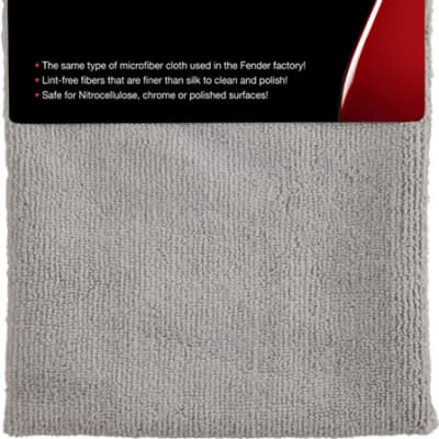 Fender Factory Microfiber Cloth - Gray for sale