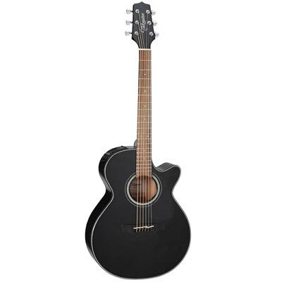 Takamine GF30CE Mahogany FXC Cutaway Black Electro Acoustic Guitar for sale