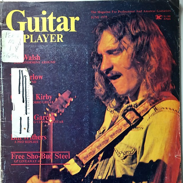Guitar Player Magazine June 1975 Joe Walsh is on the cover
