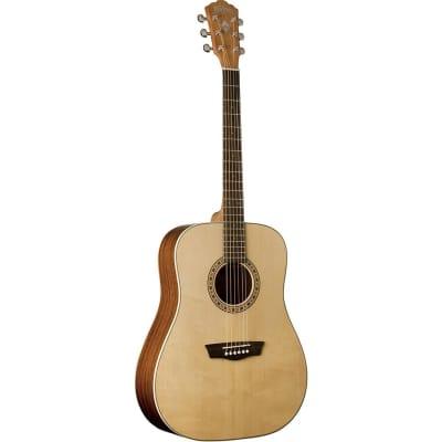 Washburn Harvest Series D7S Dreadnought Acoustic Guitar, Natural