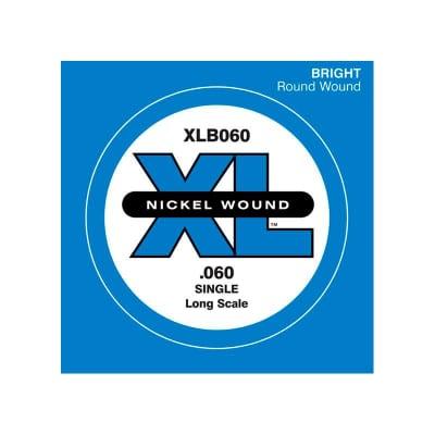 D'Addario Nickel Wound Single Bass String XLB 060
