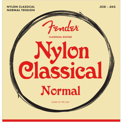 Fender 100 Classical Nylon Acoustic Guitar Strings - Tie End, 28-43 for sale