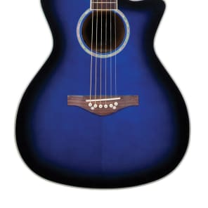 Daisy Rock Wildwood Acoustic-Electric Guitar, Royal Blue Burst, New, Free Shipping DR6278 for sale