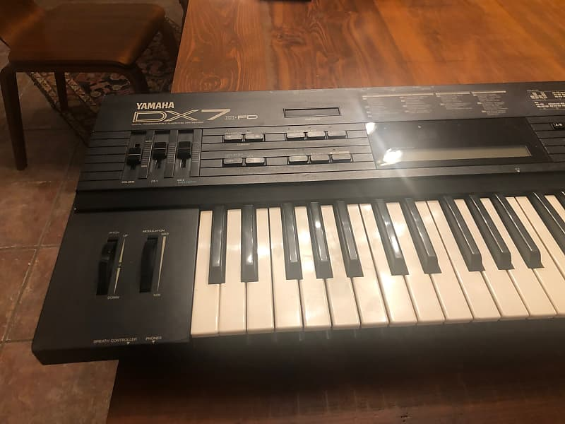 Yamaha DX7 II FD with PL88 Patch Memory Module!   Reverb