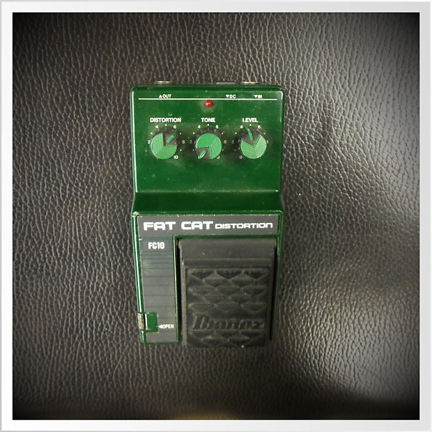 Ibanez Fc 10 Fat Cat Distortion Green Reverb