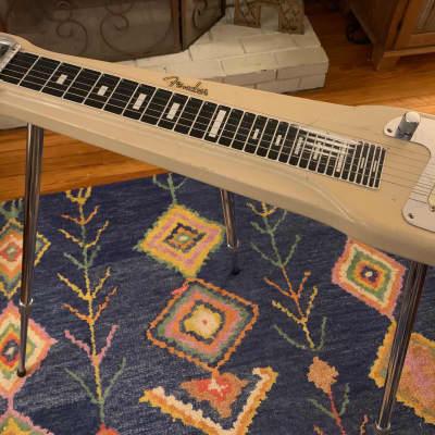 1960 Fender Studio Deluxe 6-String Console Steel Guitar Desert Sand Lap Steel