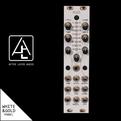 Antumbra Knit - Mutable Instruments Micro Plaits - Eurorack Module -White/Gold Panel