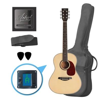 Artist LSP34 3/4 Size Beginner Acoustic Guitar Pack - Gloss Natural for sale