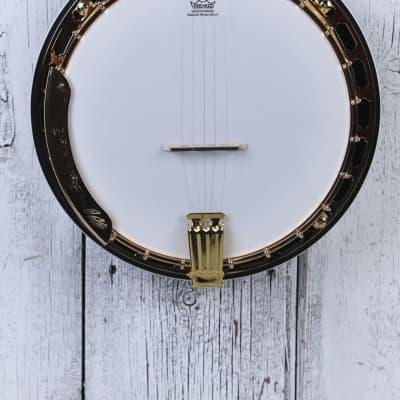 Washburn Americana B17 5 String Flame Maple Resonator Back Banjo with Case