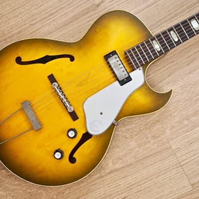 1964 Epiphone Sorrento Vintage Hollowbody Guitar Royal Olive w/ Case, ES-125T