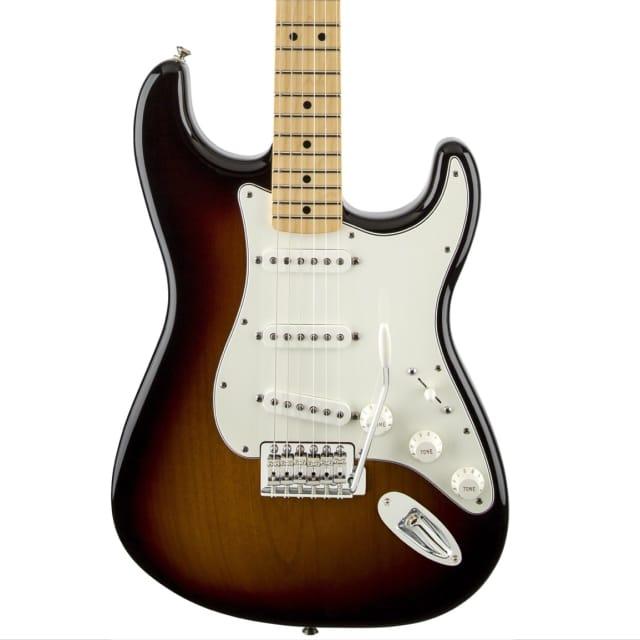 Fender Standard Stratocaster Maple Fingerboard in Brown Sunburst. image