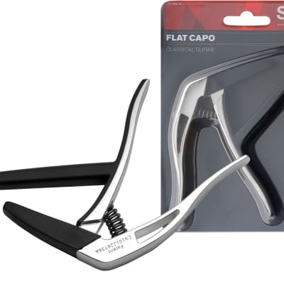 Stagg SCPX-FL Flat trigger STYLE capo for classical guitar Chrome Finish 2017 for sale