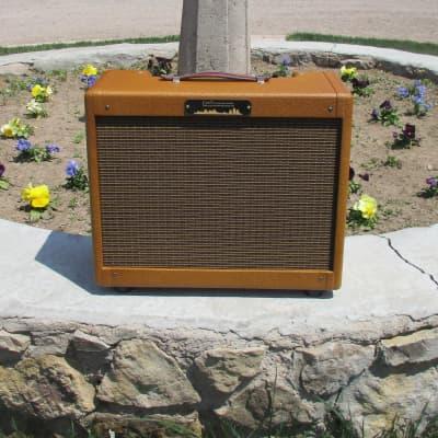 Carl's Custom Amps Chicago Harpmaster 15W  2x8 Dark Tweed Combo for sale